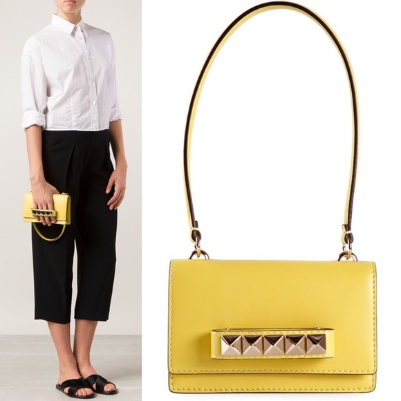 af75f3831be Valentino Bags | Va Va Voom Yellow Mini Flap Shoulder Bag | Poshmark